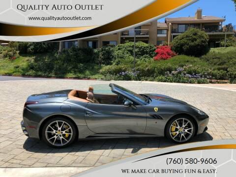 2010 Ferrari California for sale at Quality Auto Outlet in Vista CA