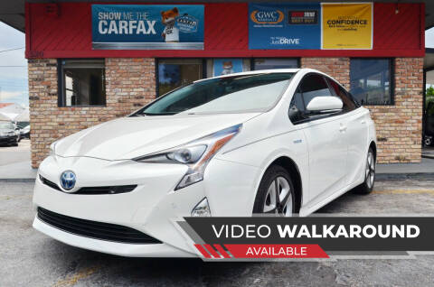 2018 Toyota Prius for sale at ALWAYSSOLD123 INC in North Miami Beach FL