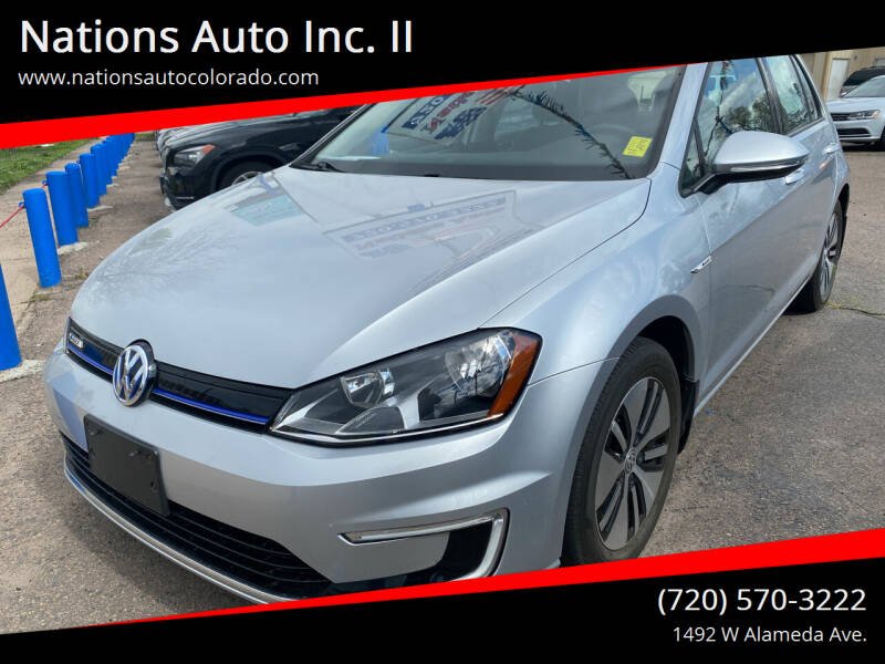 2016 Volkswagen e-Golf for sale at Nations Auto Inc. II in Denver CO