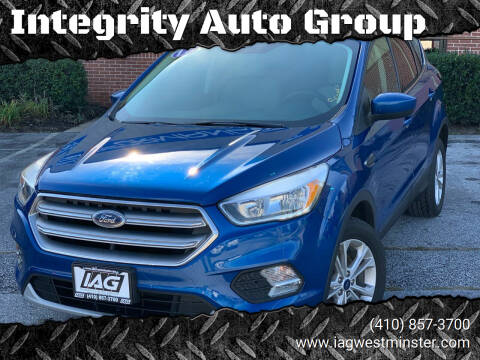 2017 Ford Escape for sale at Integrity Auto Group in Westminister MD