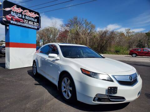 2012 Acura TL for sale at Auto Outlet Sales and Rentals in Norfolk VA