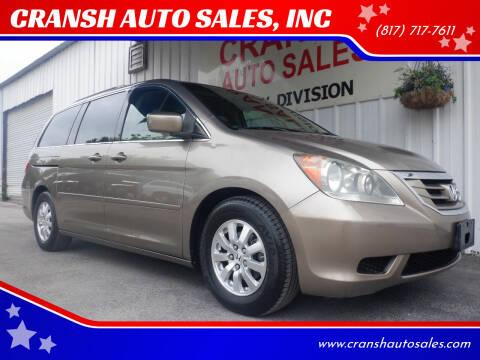 2010 Honda Odyssey for sale at CRANSH AUTO SALES, INC in Arlington TX
