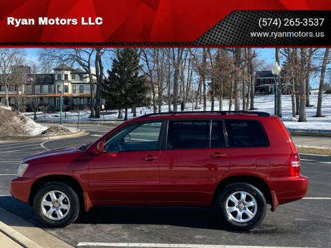 2003 Toyota Highlander for sale at Ryan Motors LLC in Warsaw IN