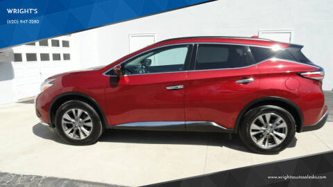 2017 Nissan Murano for sale at WRIGHT'S in Hillsboro KS
