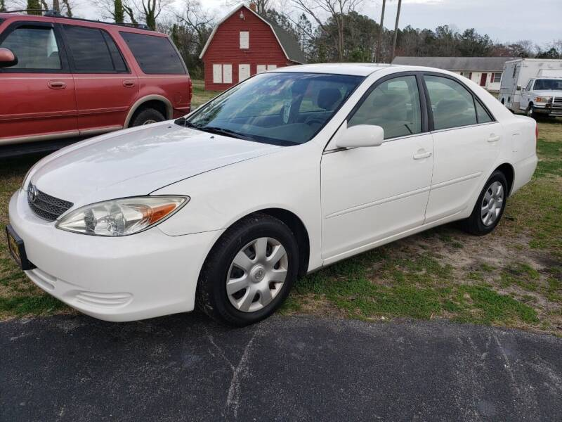 2002 Toyota Camry for sale at J Wilgus Cars in Selbyville DE