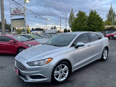 2018 Ford Fusion Hybrid for sale at Real Deal Cars in Everett WA