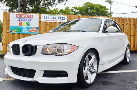 2009 BMW 1 Series for sale at ALWAYSSOLD123 INC in Fort Lauderdale FL