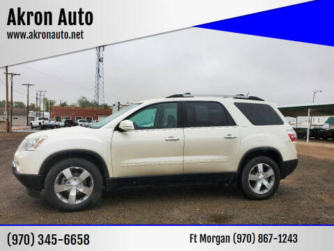 2012 GMC Acadia for sale at Akron Auto - Fort Morgan in Fort Morgan CO