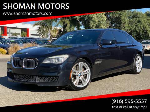 2011 BMW 7 Series for sale at SHOMAN MOTORS in Davis CA
