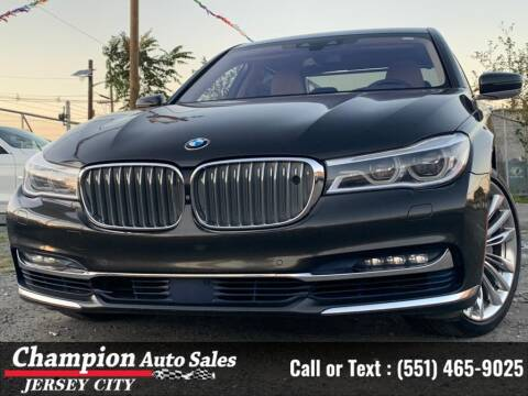 2017 BMW 7 Series for sale at CHAMPION AUTO SALES OF JERSEY CITY in Jersey City NJ