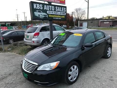 2012 Chrysler 200 for sale at KBS Auto Sales in Cincinnati OH
