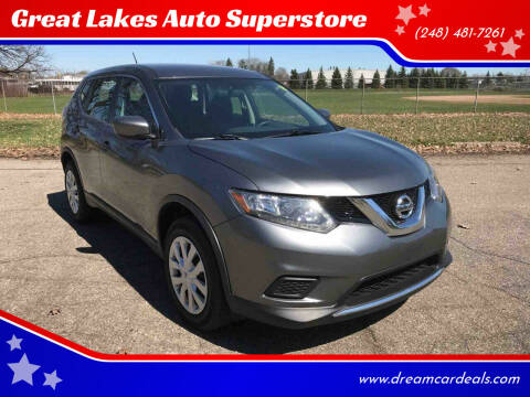 2016 Nissan Rogue for sale at Great Lakes Auto Superstore in Pontiac MI