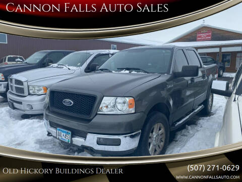 2004 Ford F-150 for sale at Cannon Falls Auto Sales in Cannon Falls MN