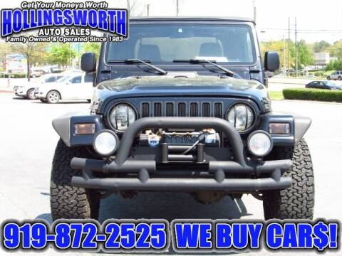 2003 Jeep Wrangler for sale at Hollingsworth Auto Sales in Raleigh NC