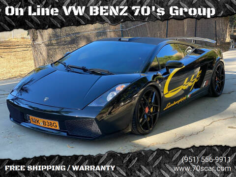 2004 Lamborghini Gallardo for sale at On Line VW BENZ 70's Group in Warehouse CA