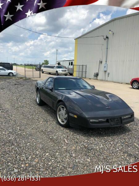 1988 Chevrolet Corvette for sale at MJ'S Sales in Foristell MO