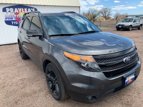 2015 Ford Explorer for sale at Praylea's Auto Sales in Peyton CO