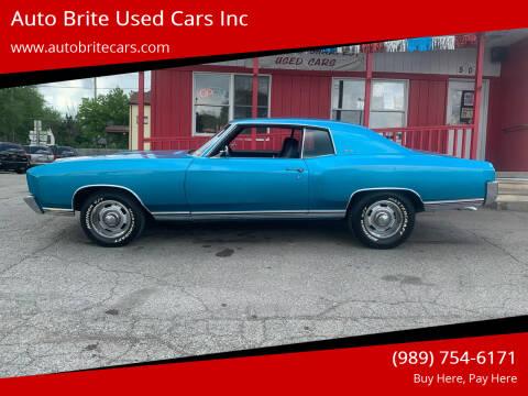 1972 Chevrolet Monte Carlo for sale at Auto Brite Used Cars Inc in Saginaw MI