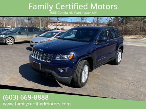 2014 Jeep Grand Cherokee for sale at Family Certified Motors in Manchester NH