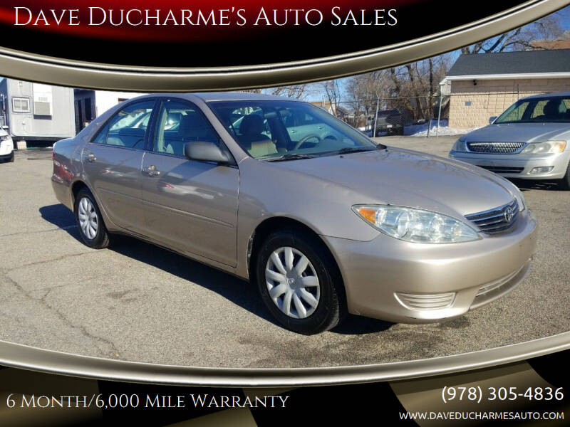 2005 Toyota Camry for sale at Dave Ducharme's Auto Sales in Lowell MA