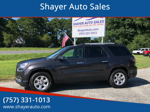 2015 GMC Acadia for sale at Shayer Auto Sales in Cape Charles VA
