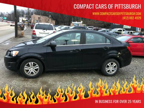 2012 Chevrolet Sonic for sale at Compact Cars of Pittsburgh in Pittsburgh PA