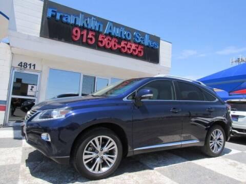 2013 Lexus RX 350 for sale at Franklin Auto Sales in El Paso TX