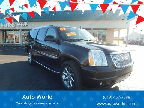 2007 GMC Yukon XL for sale at Auto World in Carbondale IL