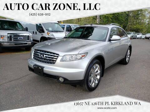 2003 Infiniti FX45 for sale at Auto Car Zone, LLC in Kirkland WA