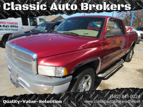1999 Dodge Ram Pickup 1500 for sale at Classic Auto Brokers in Haltom City TX