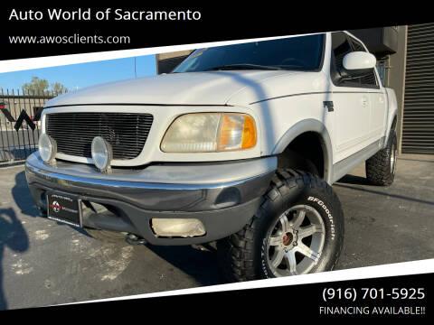 2001 Ford F-150 for sale at Auto World of Sacramento Stockton Blvd in Sacramento CA