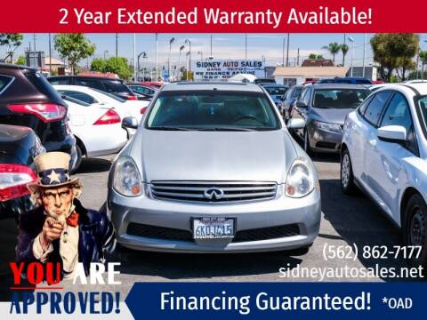 2006 Infiniti G35 for sale at Sidney Auto Sales in Downey CA