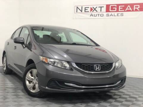 2014 Honda Civic for sale at Next Gear Auto Sales in Westfield IN