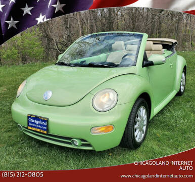2005 Volkswagen New Beetle Convertible for sale at Chicagoland Internet Auto - 410 N Vine St New Lenox IL, 60451 in New Lenox IL