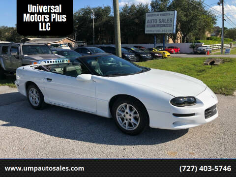 2002 Chevrolet Camaro for sale at Universal Motors Plus LLC in Largo FL