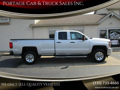 2016 Chevrolet Silverado 3500HD for sale at Portage Car & Truck Sales Inc. in Akron OH