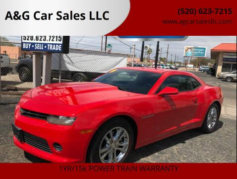 2014 Chevrolet Camaro for sale at A&G Car Sales  LLC in Tucson AZ