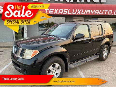2007 Nissan Pathfinder for sale at Texas Luxury Auto in Cedar Hill TX