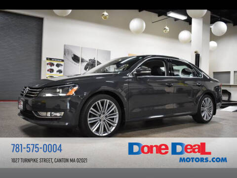 2015 Volkswagen Passat for sale at DONE DEAL MOTORS in Canton MA