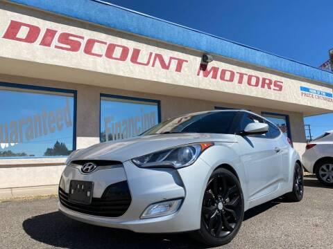 2012 Hyundai Veloster for sale at Discount Motors in Pueblo CO