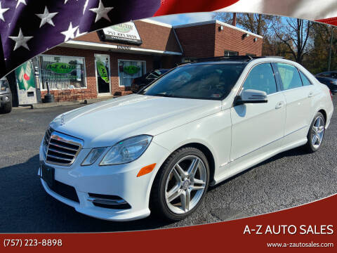 2013 Mercedes-Benz E-Class for sale at A-Z Auto Sales in Newport News VA