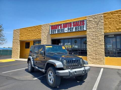 2015 Jeep Wrangler Unlimited for sale at Marys Auto Sales in Phoenix AZ