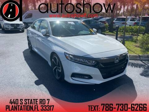 2018 Honda Accord for sale at AUTOSHOW SALES & SERVICE in Plantation FL