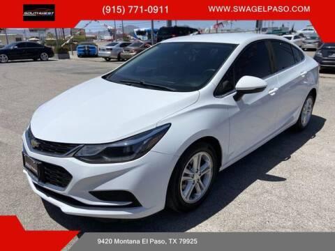 2018 Chevrolet Cruze for sale at SOUTHWEST AUTO GROUP-EL PASO in El Paso TX