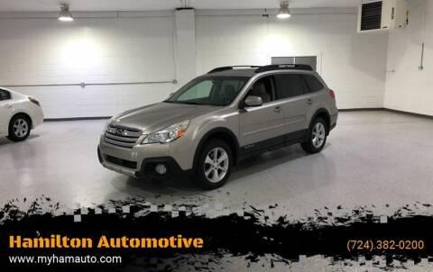 2014 Subaru Outback for sale at Hamilton Automotive in North Huntingdon PA
