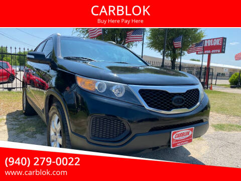 2012 Kia Sorento for sale at CARBLOK in Lewisville TX
