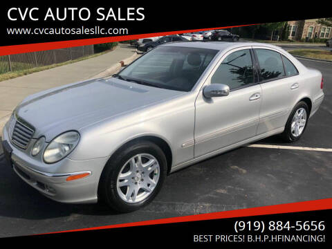 2003 Mercedes-Benz E-Class for sale at CVC AUTO SALES in Durham NC