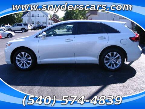 2014 Toyota Venza for sale at Snyders Auto Sales in Harrisonburg VA