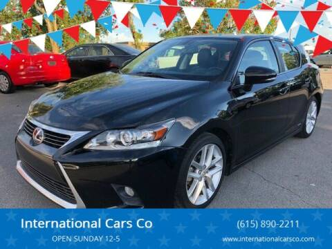 2015 Lexus CT 200h for sale at International Cars Co in Murfreesboro TN
