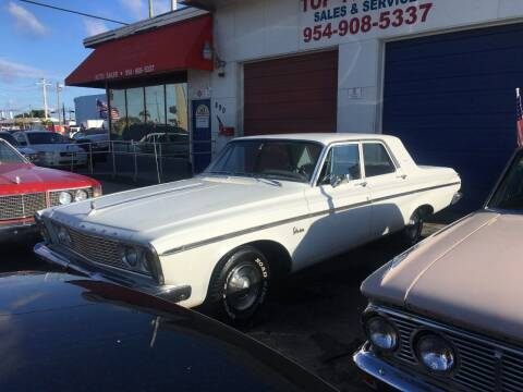 1963 Plymouth Belvedere for sale at TOP TWO USA INC in Oakland Park FL